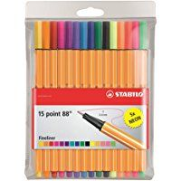 Stylo FEUTRE STABILO Point 88 Fin 0.4mm - Set/15 coul